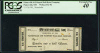 Painesville, OH- Painesville and Fairport Rail-Road Company $12 1/2¢ 183_ Remainder Wolka 2162-02 PCGS Extremely Fi...