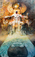Original Comic Art:Covers, Bill Sienkiewicz Moon Knight #1 Retailer Incentive Variant Cover Painting Original Art (2014)....