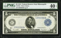 Fr. 879a $5 1914 Federal Reserve Note PMG Extremely Fine 40 EPQ