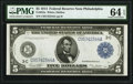 Large Size:Federal Reserve Notes, Fr. 855a $5 1914 Federal Reserve Note PMG Choice Uncirculated 64 EPQ.. ...