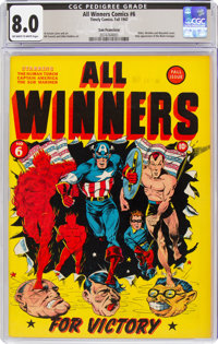 All Winners Comics #6 San Francisco Pedigree (Timely, 1942) CGC VF 8.0 Off-white to white pages
