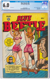 Blue Beetle #54 (Fox Features Syndicate, 1948) CGC FN 6.0 Off-white pages