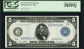 Large Size:Federal Reserve Notes, Fr. 871a $5 1914 Federal Reserve Note PCGS Choice About New 58PPQ.. ...