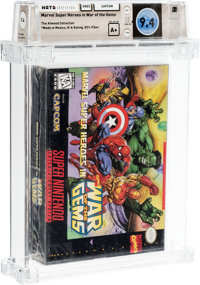 Marvel Super Heroes in War of the Gems - Atwood Collection Wata 9.4 A+ Sealed SNES Capcom 1996 USA