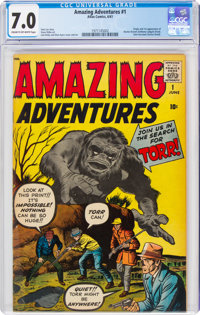 Amazing Adventures #1 (Marvel, 1961) CGC FN/VF 7.0 Cream to off-white pages