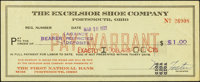 Portsmouth, OH- Excelsior Shoe Company $1 Mar. 10, 1933 Shafer OH610-1d About Uncirculated