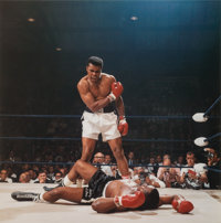 Neil Leifer (American, b. 1942) Muhammad Ali reacts after his first round knockout of Sonny Liston during the 1