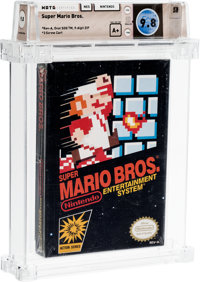 Super Mario Bros. [Oval SOQ TM, Late Production] Wata 9.8 A+ Sealed NES Nintendo 1985 USA