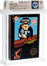 Hogan's Alley [Gloss Sticker, Second Production] Wata 9.0 CIB NES Nintendo 1985 USA