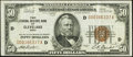 Fr. 1880-D $50 1929 Federal Reserve Bank Note. Very Fine-Extremely Fine