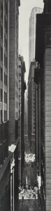 Photographs, Berenice Abbott (American, 1898-1991). View of Exchange Place from Broadway, Manhattan, 1934. Gelatin silver, printed la...