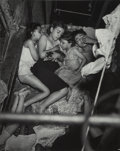 Photographs, Weegee (American, 1899-1968). Tenement Penthouse (Children Sleeping on the Fire Escape), 1938. Gelatin silver, printed l...