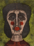 Prints & Multiples, Rufino Tamayo (1899-1991). Cabeza de mujer, 1973. Lithograph in colors on wove paper. 30 x 22 inches (76.2 x 55.9 cm) (s...