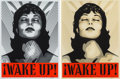 Prints & Multiples, Shepard Fairey (b. 1970). Wake Up! (White and Cream) (two works), 2017. Screenprint in colors on paper. 24 x 18 inches (... (Total: 2 Items)