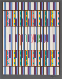 Yaacov Agam (b. 1928) Untitled, late 20th century Serigraph in colors on paper 15 x 12 inches (38