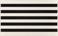 Yaacov Agam (b. 1928) Untitled, late 20th century Screenprint in colors on paper 28 x 40-1/4 inch