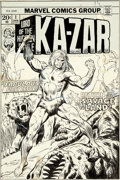 Original Comic Art:Covers, John Buscema Ka-Zar #1 Cover Original Art (Marvel, 1974)....
