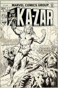 John Buscema Ka-Zar #1 Cover Original Art (Marvel, 1974)