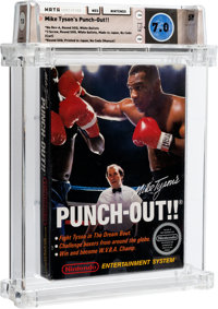 Mike Tyson's Punch-Out!! [White Bullets, First Production, GSI Included] Wata 7.0 CIB NES Nintendo 1987 USA
