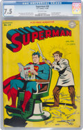 Golden Age (1938-1955):Superhero, Superman #38 (DC, 1946) CGC VF- 7.5 Off-white pages....