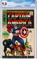 Silver Age (1956-1969):Superhero, Captain America #100 (Marvel, 1968) CGC VF/NM 9.0 Cream to off-white pages....