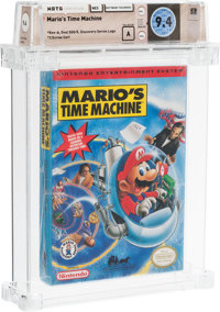 Mario's Time Machine Wata 9.4 A Sealed NES Software Toolworks 1994 USA