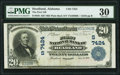 National Bank Notes:Alabama, Headland, AL - $20 1902 Plain Back Fr. 650 The First National Bank Ch. # 7424 PMG Very Fine 30.. ...