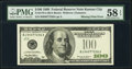 Missing Print Error. Fr. 2176-J $100 1999 Federal Reserve Note. PMG Choice About Unc 58 EPQ