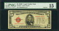 Small Size:Legal Tender Notes, Fr. 1531* $5 1928F Narrow Legal Tender Star Note. PMG Choice Fine 15.. ...
