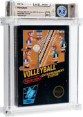 Video Games:Nintendo, Volleyball [Hangtab, 3 Code, Mid-Production] Wata 9.2 A+ Sealed NES Nintendo 1987 USA....