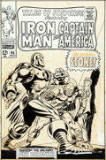 Original Comic Art:Covers, Gene Colan and Frank Giacoia Tales of Suspense #95 Cover Iron Man Original Art (Marvel, 1967)....