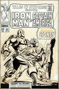 Gene Colan and Frank Giacoia Tales of Suspense #95 Cover Iron Man Original Art (Marvel, 1967)