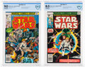 Bronze Age (1970-1979):Science Fiction, Star Wars #1 and 2 CBCS-Graded Group (Marvel, 1977).... (Total: 2 Comic Books)