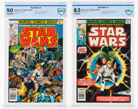 Star Wars #1 and 2 CBCS-Graded Group (Marvel, 1977).... (Total: 2)