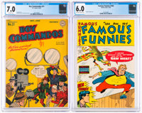 Boy Commandos #21/Famous Funnies #184 CGC-Graded Group (DC, 1947-49).... (Total: 2 Comic Books)