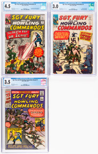 Sgt. Fury and His Howling Commandos CGC-Graded Group of 3 (Marvel, 1964-65) CGC.... (Total: 3)