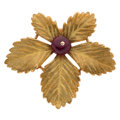 Estate Jewelry:Brooches - Pins, Ruby, Gold Brooch . ...