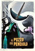 Movie Posters:Horror, The Pit and the Pendulum by Enzo Nistri (Filmar, 1961). Very Fine. Signed Original Italian Gouache Concept Artwork on Paper ...