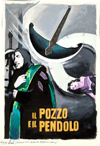 The Pit and the Pendulum by Enzo Nistri (Filmar, 1961). Very Fine. Signed Original Italian Gouache Concept Artwork on Pa...