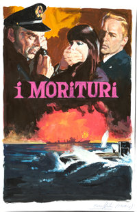 Morituri by Enzo Nistri (20th Century Fox, 1965). Very Fine/Near Mint. Signed Original Mixed Media Concept Artwork on Pa...