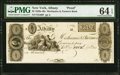 Obsoletes By State:New York, Albany, NY- Mechanics & Farmers Bank $5 18__ G66 Proof PMG Choice Uncirculated 64 EPQ.. ...