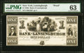 Obsoletes By State:New York, Lansingburgh, NY- Bank of Lansingburgh $1 18__ G32 Proof PMG Choice Uncirculated 63.. ...