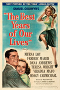 """Movie Posters:Academy Award Winners, The Best Years of Our Lives (RKO, 1946). Very Fine- on Linen. One Sheet (27"""" X 41"""") Style B.. ..."""