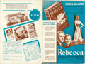 """Movie Posters:Hitchcock, Rebecca (United Artists, 1940). Fine/Very Fine. Uncut Pressbook (18 Pages, 12"""" X 18"""") with 12 Page Ad Supplement.. ..."""