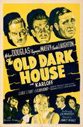 """Movie Posters:Horror, The Old Dark House (Universal, R-1939). Folded, Very Fine-. One Sheet (27"""" X 41"""").. ..."""