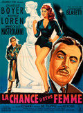 """Movie Posters:Foreign, What a Woman! (Columbia, 1956). Folded, Very Fine-. French Grande (45.5"""" X 62""""). Constantine Belinsky Artwork.. ..."""