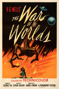 "Movie Posters:Science Fiction, The War of the Worlds (Paramount, 1953). Very Fine on Linen. One Sheet (27"" X 41"").. ..."