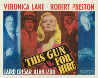 """This Gun for Hire (Paramount, 1942). Fine on Paper. Half Sheet (22"""" X 28"""") Style B"""