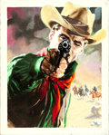 Movie Posters:Western, The Deadly Companions by Enzo Nistri (Warner Bros., 1962). Fine/Very Fine. Signed Original Italian Mixed Media Poster Artwor...