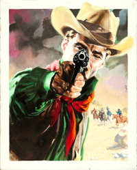 The Deadly Companions by Enzo Nistri (Warner Bros., 1962). Fine/Very Fine. Signed Original Italian Mixed Media Poster Ar...